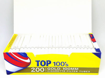 Top Gold Light 100mm Filter Tubes