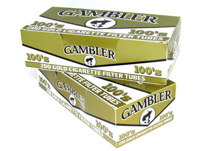 Gambler 100's King Gold Light Cigarette Filter Tubes