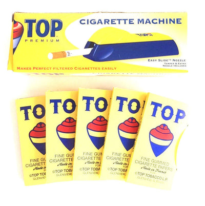 TOP Rolling Papers & Cigarette Machine Injector Bundle