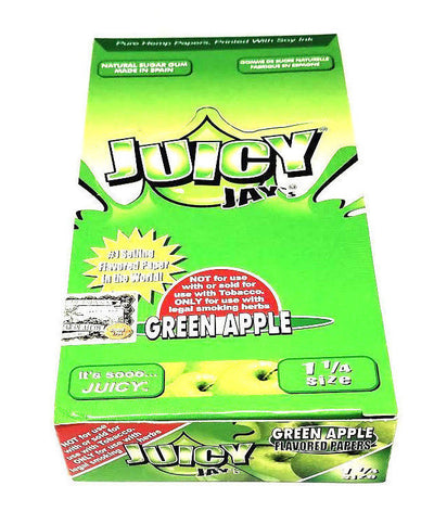 Juicy Green Apple Flavored Rolling Papers 1 1/4