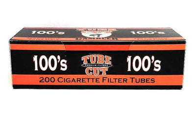 Gambler Tube Cut 100MM Red Regular Flavor Cigarette Filter Tubes