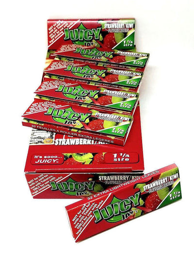 Juicy Strawberry & Kiwi Flavored Rolling Papers 1 1/4
