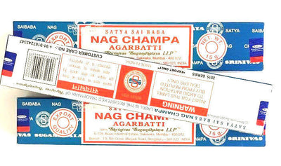 Nag Champa Satya Agarbatti Incense- 3 Pack- 15G - ap 12 Sticks Ea-Free USA Ship