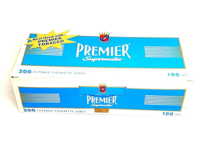 Premier Light Flavor Blue Cigarette Tubes 100MM