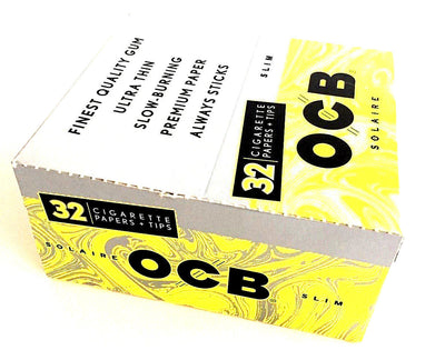 OCB Solaire Slim Rolling Papers & Tips