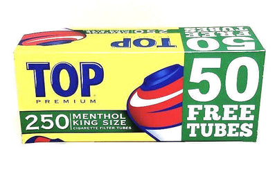Top Menthol King Size Cigarette Filter Tubes