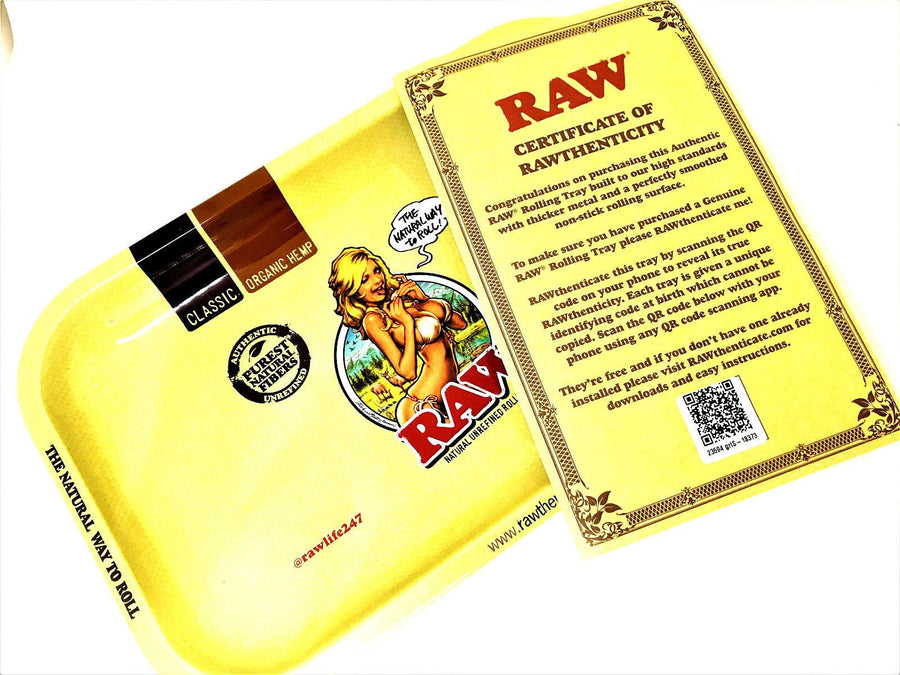 RAW Small Rolling Tray Girl Design