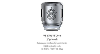SMOK V8 Baby-T6 Turbo Engines Replacement Coils - 5 Pack