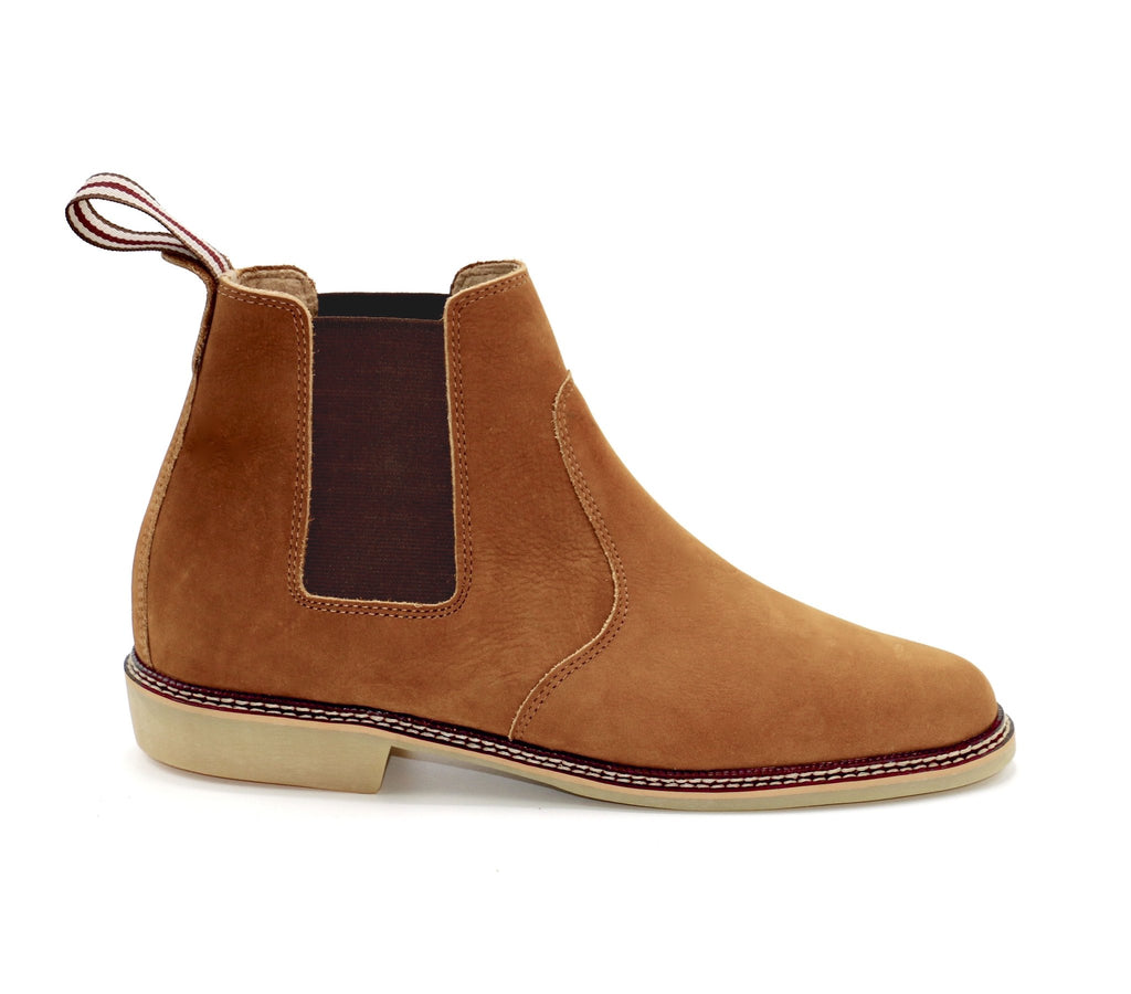 genuine leather chelsea boots men