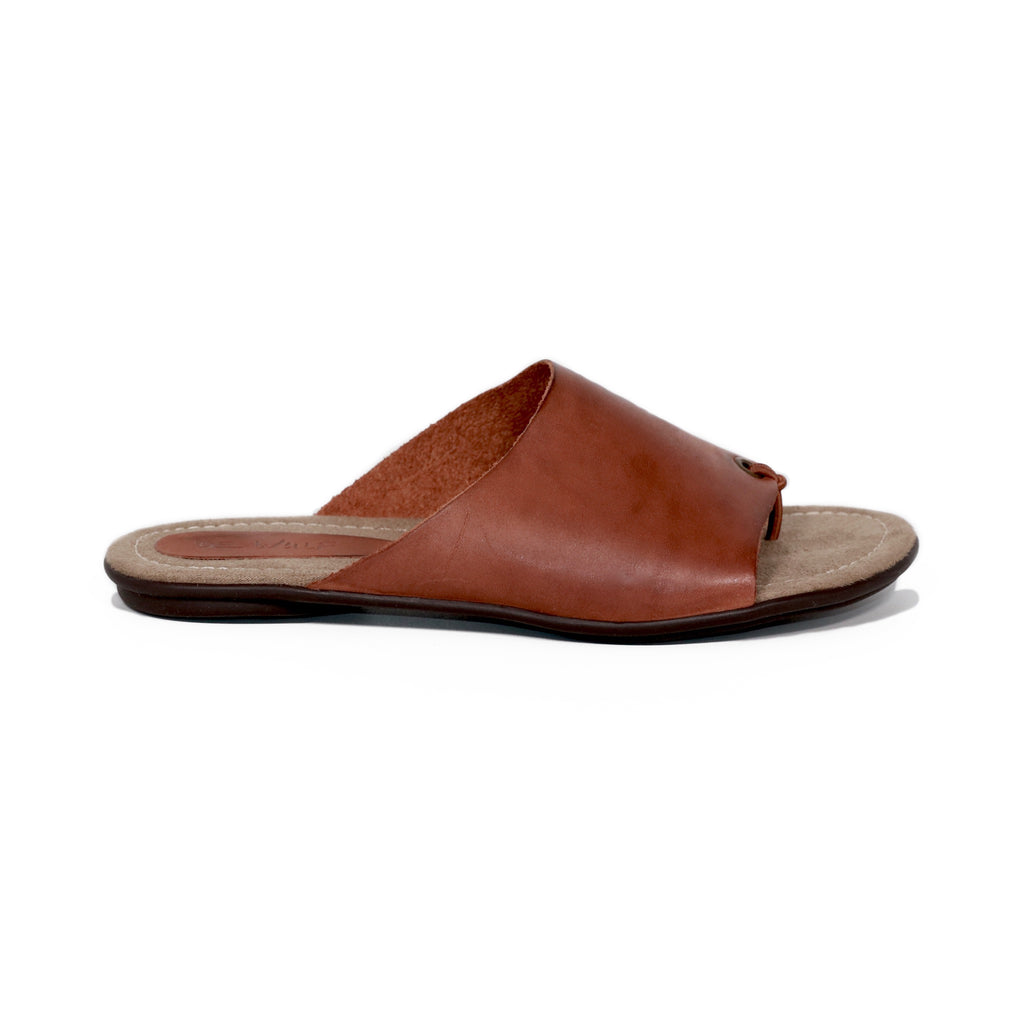 Genuine leather sandals women brown