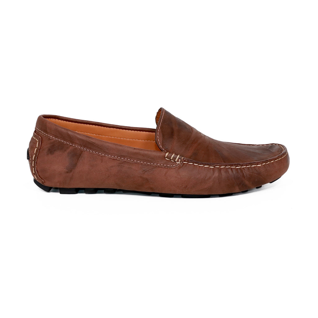 genuine leather loafers men brown timeless comfortable