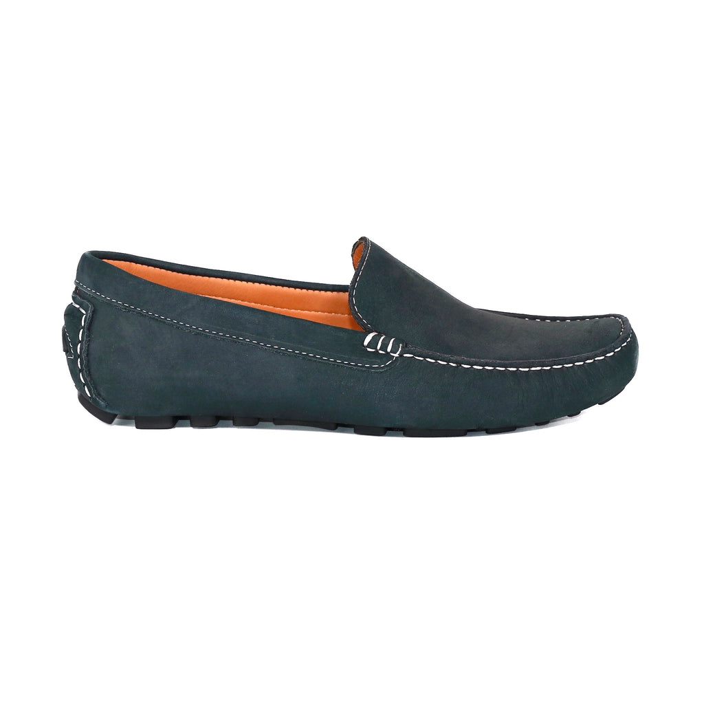 genuine leather loafers men blue navy timeless comfortable