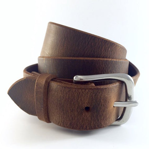 brown belt leather men