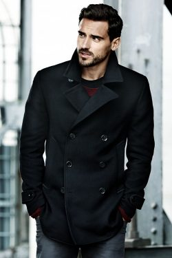 black coat men