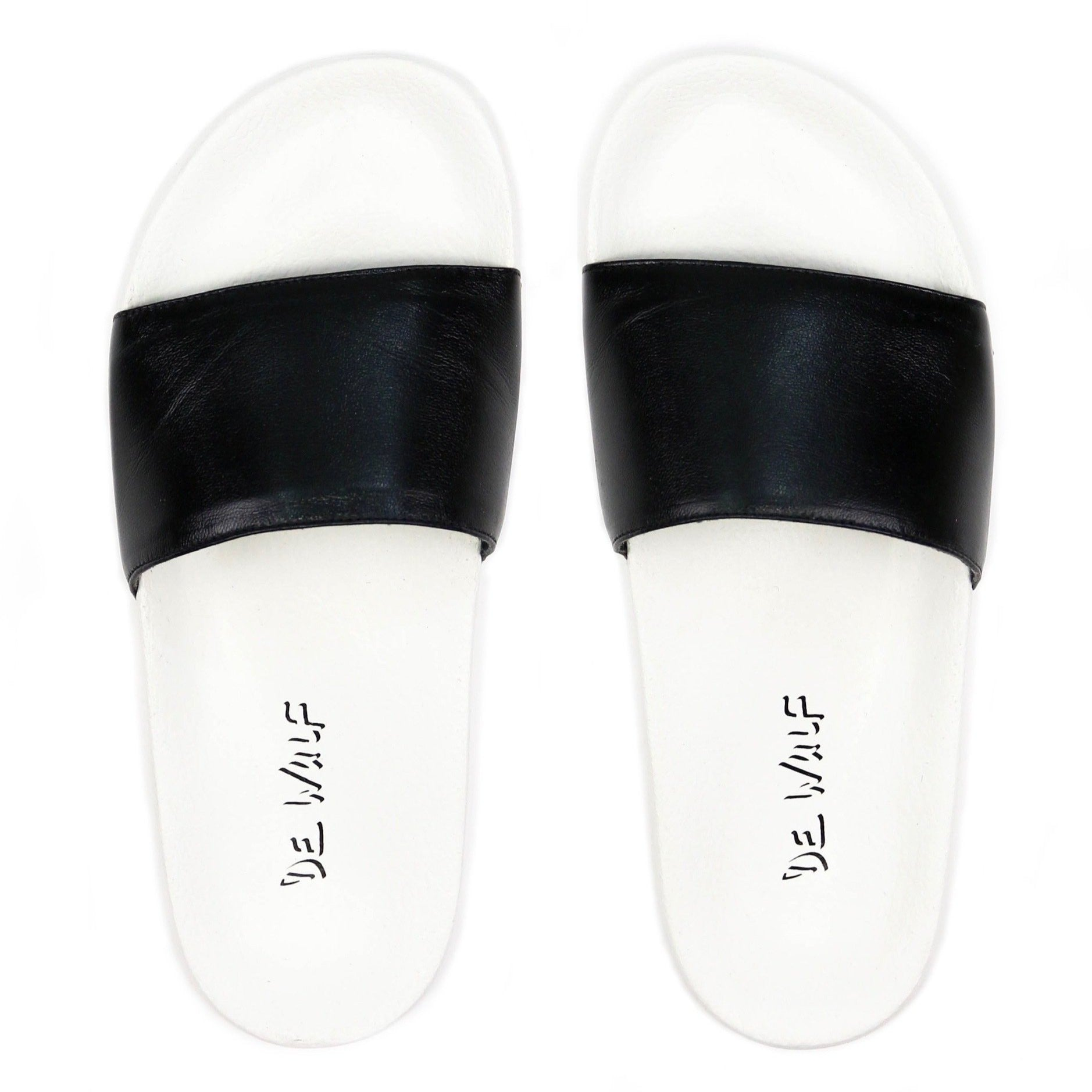 Men slides, men black slides, de wulf footwear, de wulf shoes, summer slides, comfortable shoes, men shoes, men summer shoes, flip flops, men flip flops