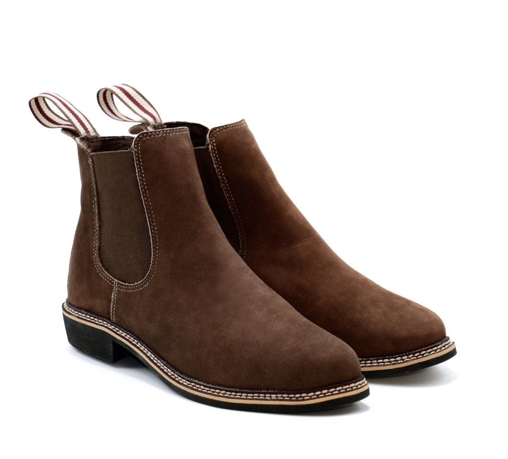b68ba444c40bb ... Genuine chelsea boots women genuine leather brown comfortable travel  shoes ...