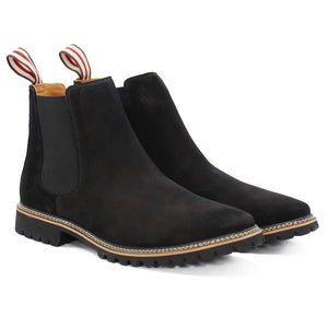 DE WULF Footwear, chelsea boots men black, genuine leather men shoes size 13, size 13 men shoes, men boots, black boots men, black shoes men
