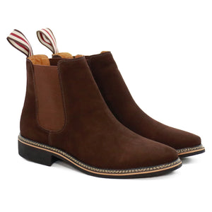 DE WULF Footwear, brown chelsea boots men, brown shoes men, casual shoes men, best shoes for men, best Chelsea boots for men
