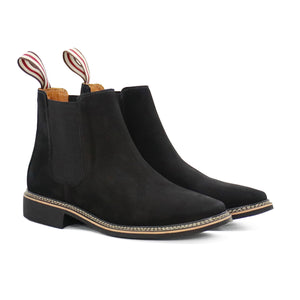 DE WULF Footwear, black chelsea boots men, black shoes men, casual shoes men, best shoes for men, best Chelsea boots for men