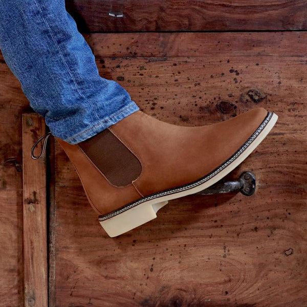 DE WULF Footwear, rust Chelsea boots men, rust shoes men, casual shoes men, best shoes for men, best Chelsea boots for men
