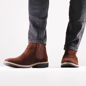 DW Chelsea Boots Men_Brown 1_brown chelsea boots men, boots men, leather boots men, comfortable boots men, leather chelsea boots men