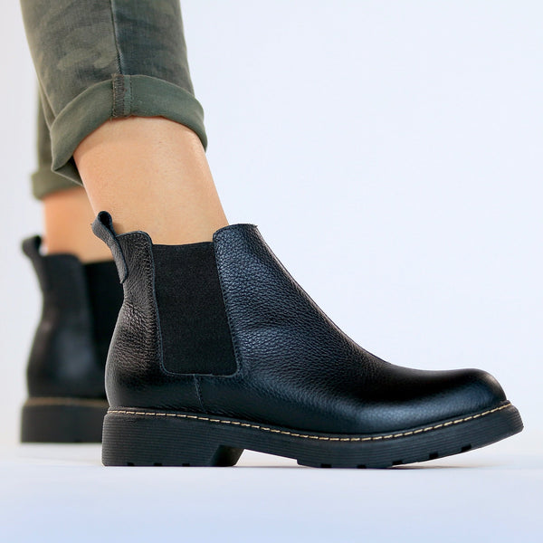 Women's Black Ankle Boots by Designer