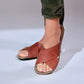 Women's (Tina) Chestnut Brown Sandals by Bernard DE WULF®