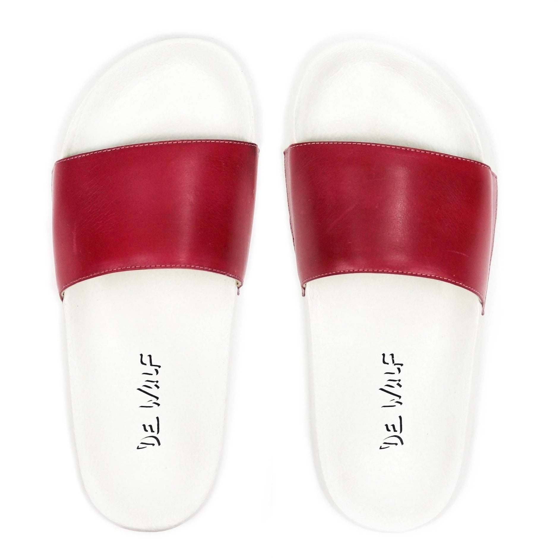 Men's Ruby Leather Sandal Slides by Bernard DE WULF®
