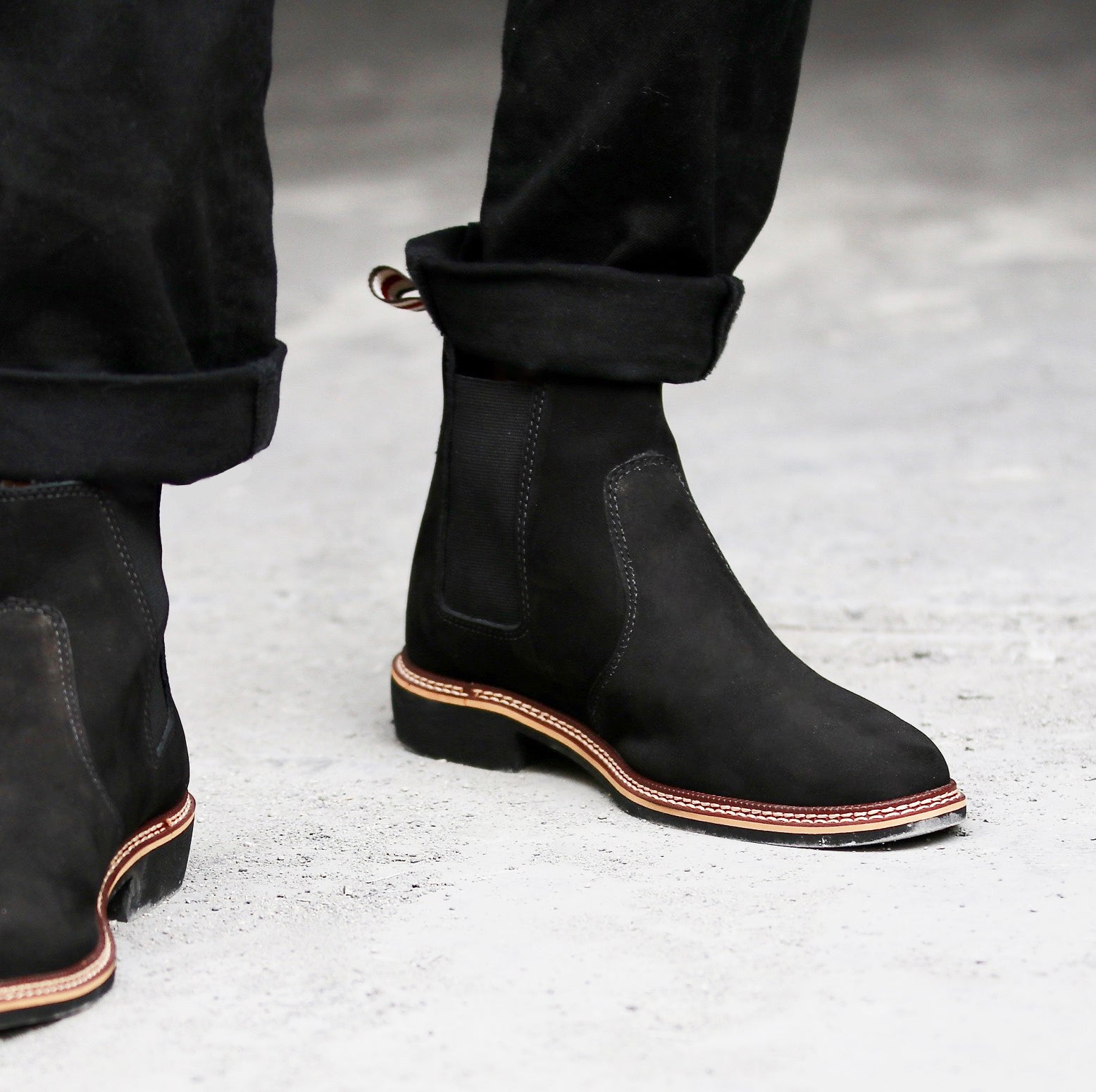 mens black chelsea boots leather