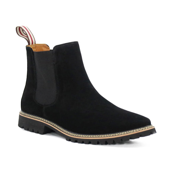 DE WULF Footwear, chelsea boots men black, genuine leather men shoes size 13, size 13 men shoes, men boots