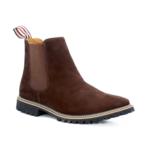 DE WULF Footwear, chelsea boots men brown genuine leather men shoes size 13, size 13.5, size 14