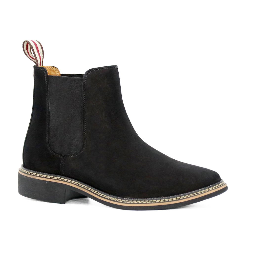 Black Leather Women Boots
