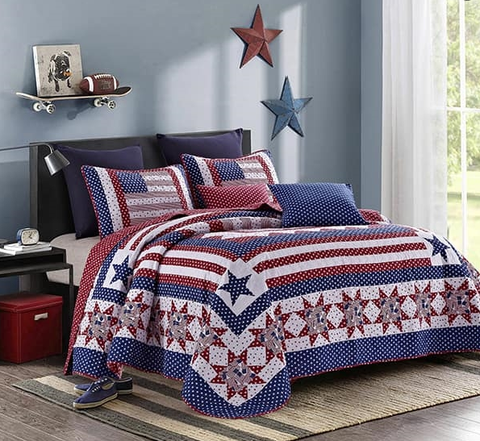 Wild West Living Americana Quilt Set