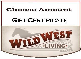 Wild West Living gift certificates