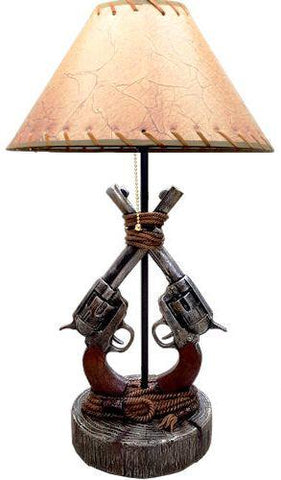Wild West Living Double Gun Table Lamp