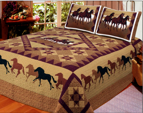 Wild West Living Horse Country Quilt Set