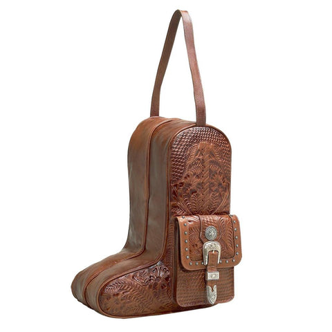 "Wild West Living ""Retro Romance"" Western Leather Boot Bag by American West"