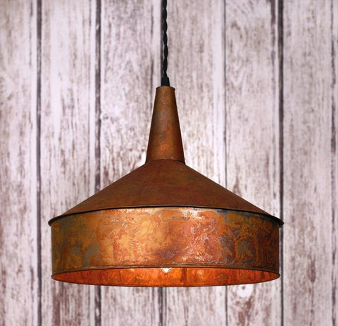 Wild West Living Western Copper Funnel Pendant Lamp