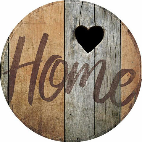Wild West Living Home Small Round Wood Sign
