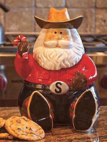 Wild West Living Western Christmas Cookie Jar