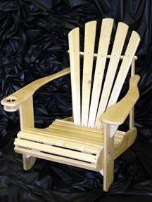 Wild West Living Pine Adirondack Chair with Cup Holder