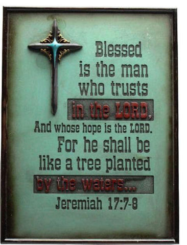 Wild West Living Blessed is the Man Who Trusts in the Lord Western Sign