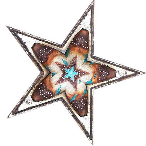 Wild West Living Western Metal Star with 5 Point Boot Design