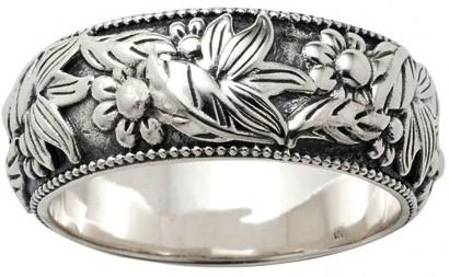 Wild West Living Sterling Lane Wildflower Melody Ring