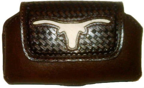 Wild West Living Western Longhorn Hair Inlay Cellphone Holder