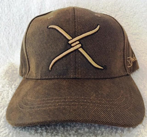 Wild West Living Brown Twisted-X Ball Cap