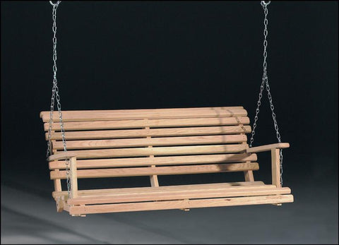 Wild West Living Solid Oak Porch Swing