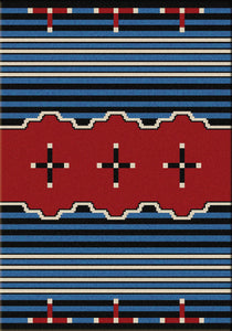 """Big Chief Blue"" Southwestern Area Rugs - Choose from 6 Sizes!"