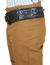 Load image into Gallery viewer, Hand Tooled Leather Gun Belt with Single Holster - .38 Caliber
