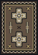 "Load image into Gallery viewer, ""Saint Cross Taupe"" Southwestern Area Rugs - Choose from 6 Sizes!"